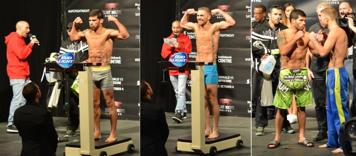 Bryan Caraway vs Rafael Assuncao Weigh In Staredown