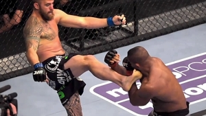Travis Browne Front Kick sur Alistair Overeem