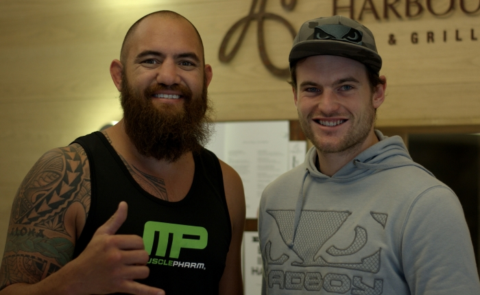 Travis Browne et Christopher Genachte
