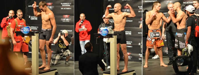 Tarec Saffiedine vs Rory Macdonald Weigh In Staredown