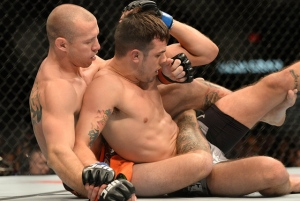 Donald Cerrone Body Triangle sur Myles Jury